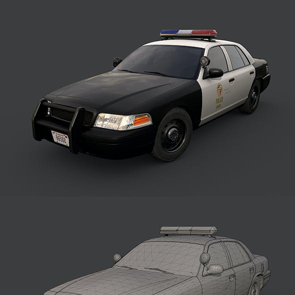 Los Angeles Police Car