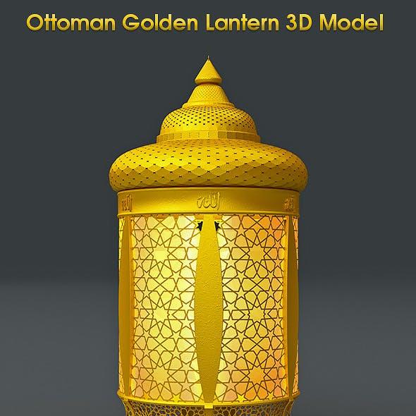 Ottoman Golden Lantern