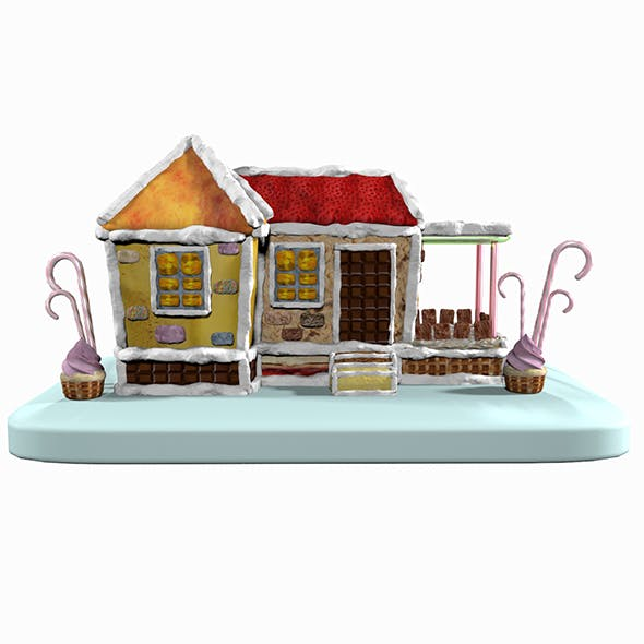 Sweet Candy Gingerbread House - 3DOcean Item for Sale