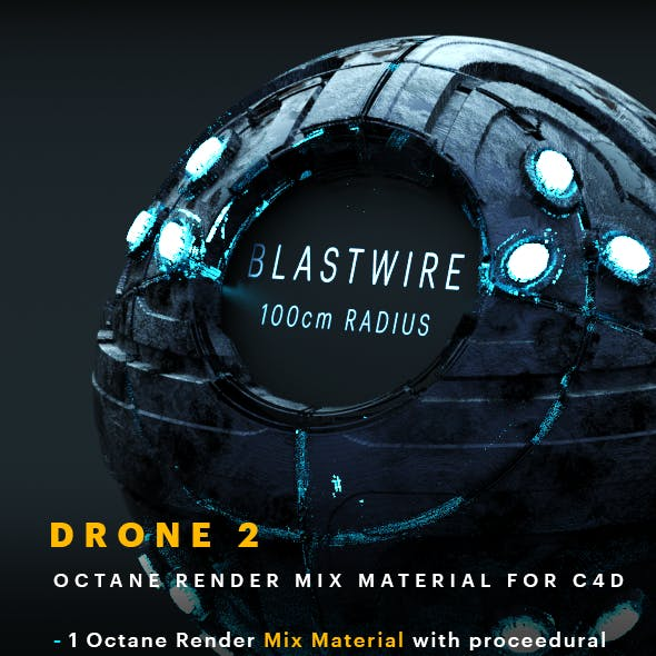 Drone 2 C4D - Octane Render Mix Material