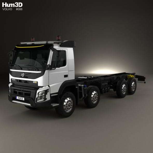 Volvo FMX Chassis Truck 4-axle 2013 - 3DOcean Item for Sale