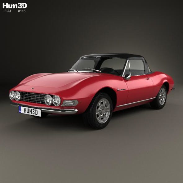 Fiat Dino Spider 2400 1969 - 3DOcean Item for Sale
