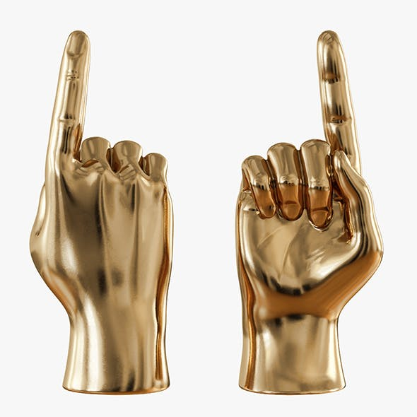 Gold figurine hand - 3DOcean Item for Sale