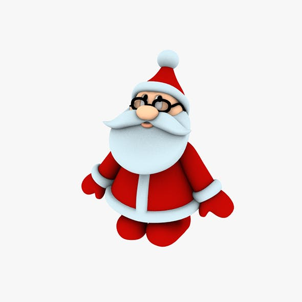Stylish Santa Claus Designed for 3D printing 1 - 3DOcean Item for Sale