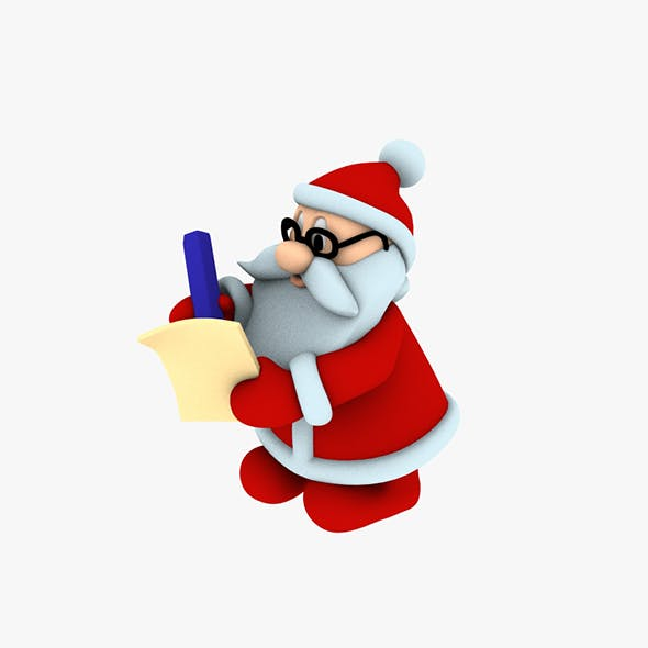 Stylish Santa Claus Designed for 3D printing 3