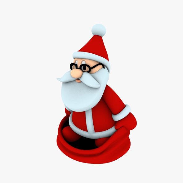 Stylish Santa Claus Designed for 3D printing 5 - 3DOcean Item for Sale
