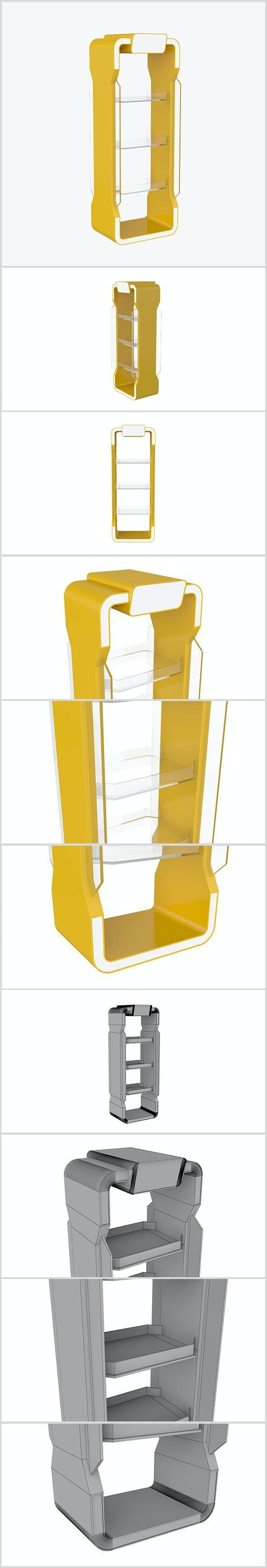 Stand Plastic Glass 3D - 3DOcean Item for Sale