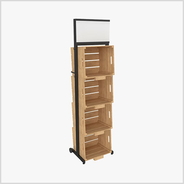 Stand Metal Wood 3D