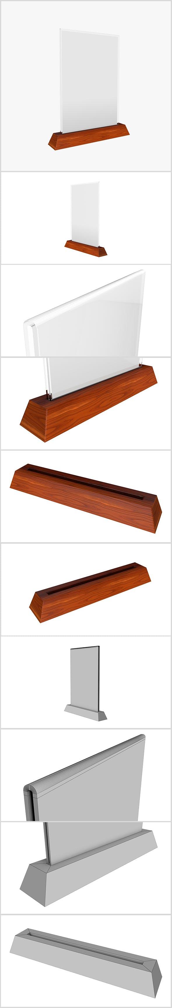 Wooden Holder 3D model - 3DOcean Item for Sale