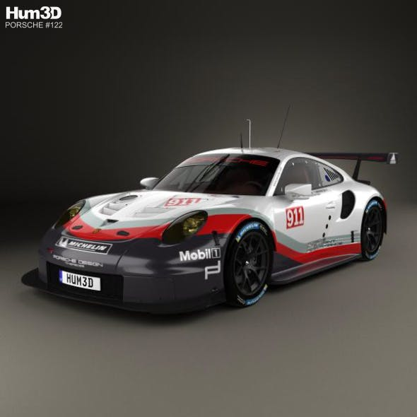 Porsche 911 Carrera (991) RSR 2017 - 3DOcean Item for Sale
