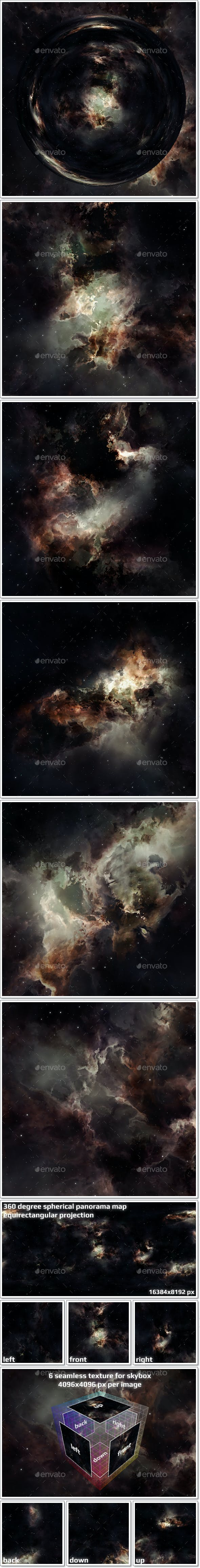 Nebula Space Environment HDRI Map 021 - 3DOcean Item for Sale