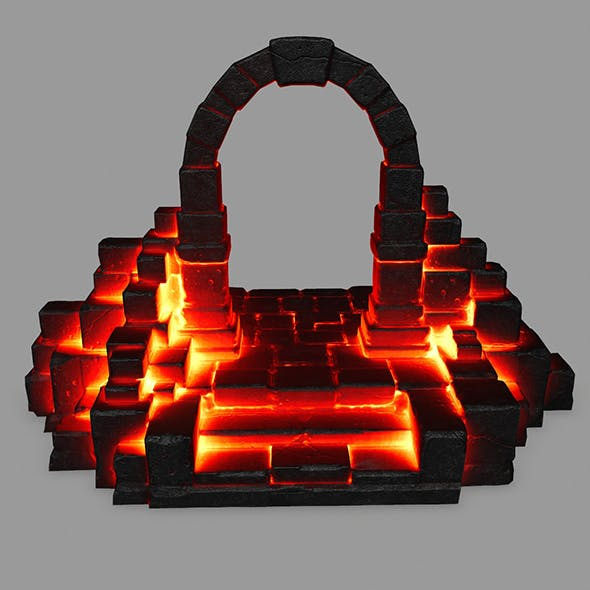 fire gate - 3DOcean Item for Sale