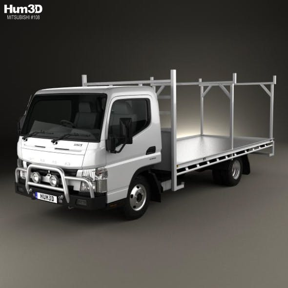Mitsubishi Fuso Canter 515 Wide Single Cab Absolute Access Truck 2016 - 3DOcean Item for Sale