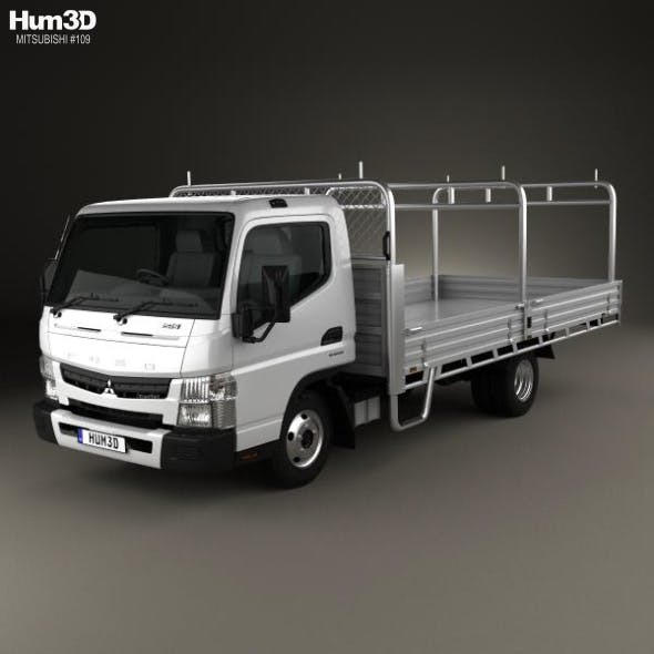 Mitsubishi Fuso Canter 515 Wide Single Cab Alloy Tray Truck 2016 - 3DOcean Item for Sale