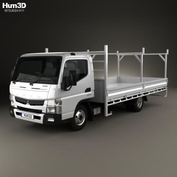 Mitsubishi Fuso Canter 515 Wide Single Cab Tradies Truck 2016 - 3DOcean Item for Sale