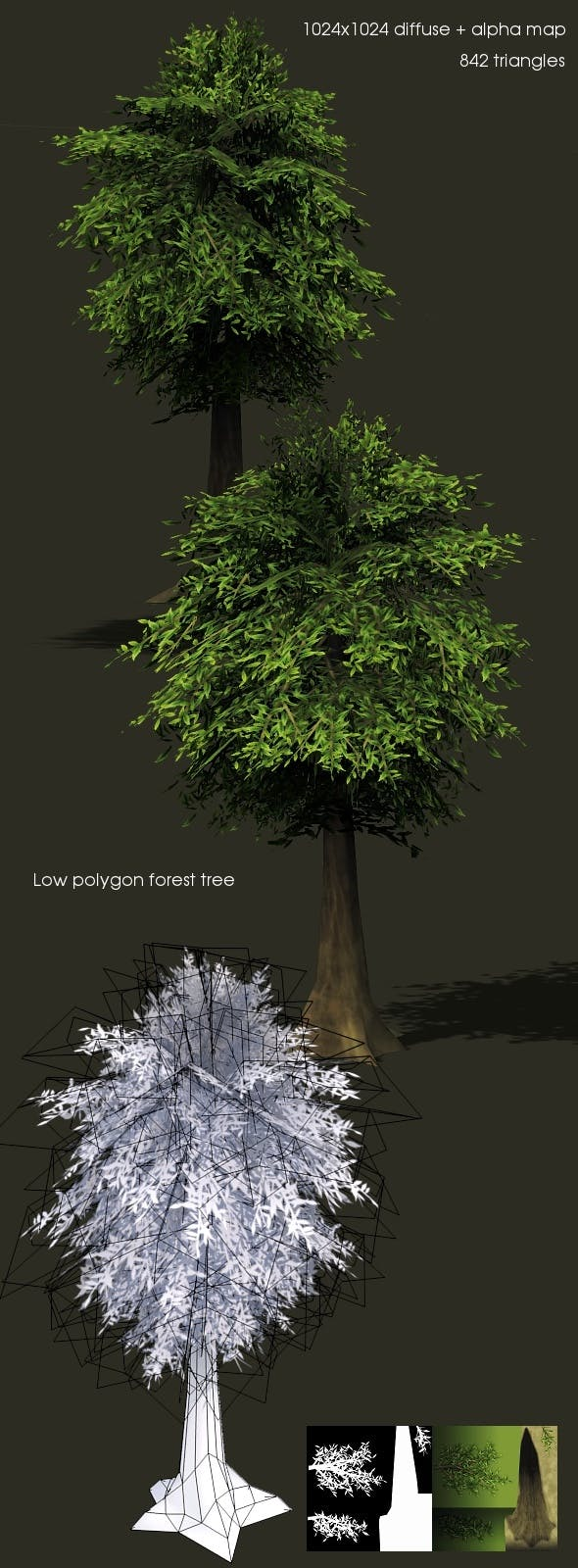 LowPolygon Tree 1 - 3DOcean Item for Sale