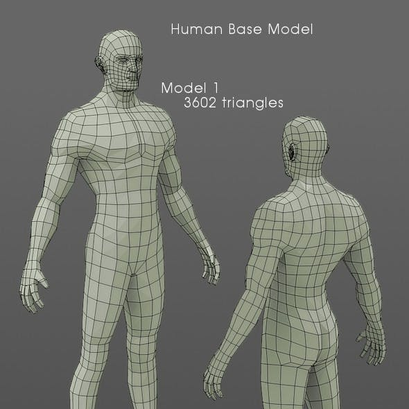 LowPolygon Human Base Model
