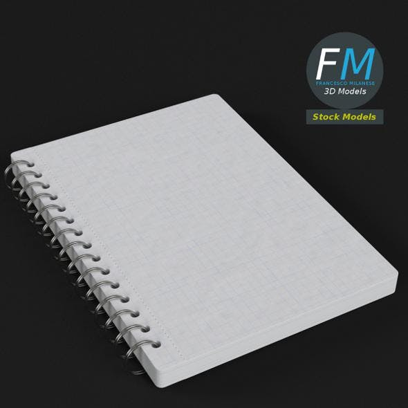 Spiral notebook - 3DOcean Item for Sale
