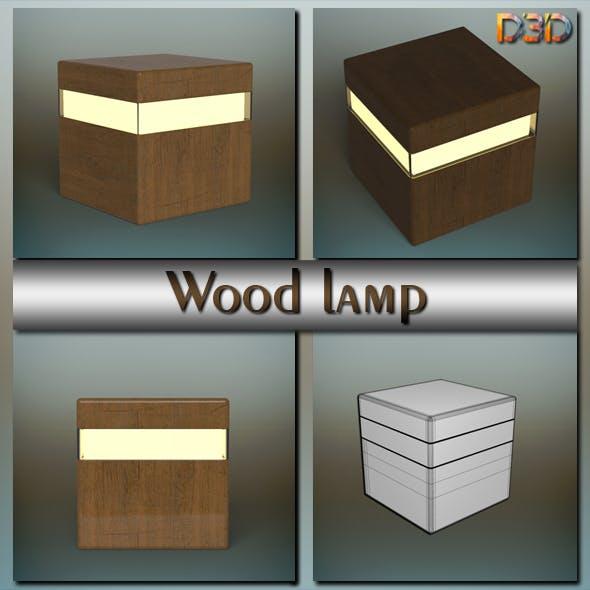 Wood lamp - 3DOcean Item for Sale