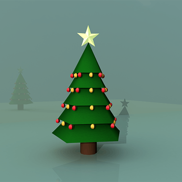 Christmas Tree 3D Model (Low Poly)