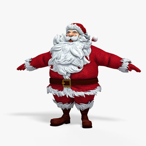 New cool Santa Claus for beautiful 3d print 01 - 3DOcean Item for Sale