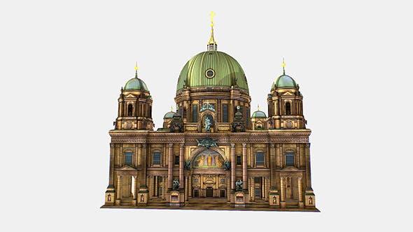 Berlin Cathedral , German Berliner Dom 3d model - 3DOcean Item for Sale