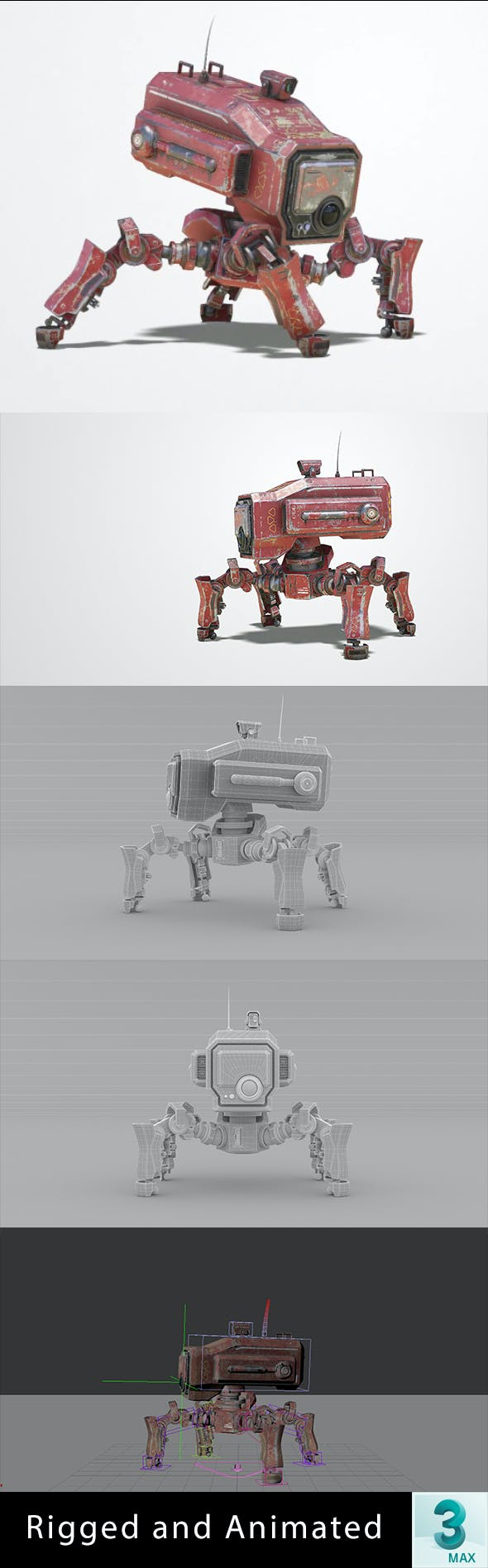 Animated Sci-Fi Robot - 3DOcean Item for Sale