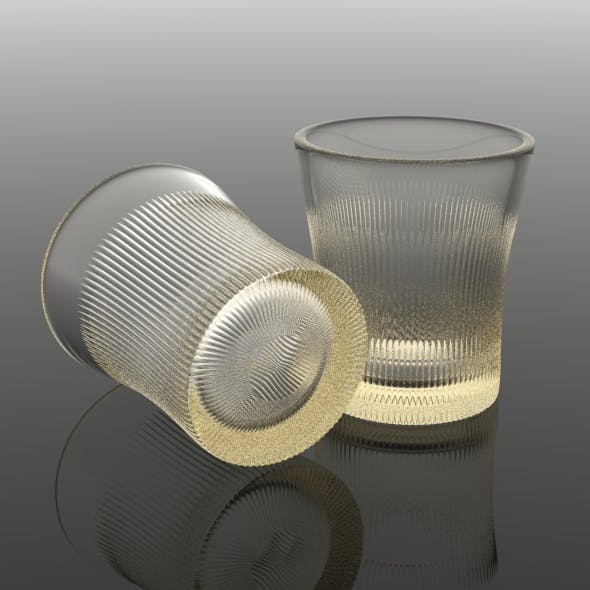 Finely Ribbed Tumbler Glass
