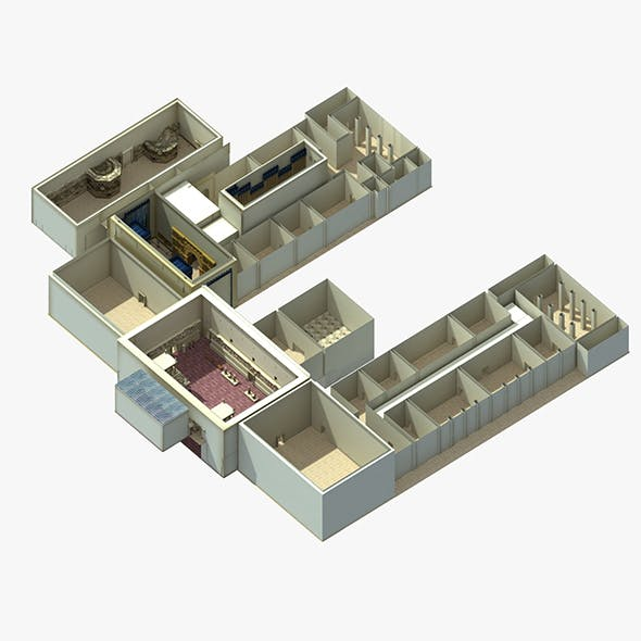 Pergamon Museum Babylon Mesopotamia Ishtar Gate - 3DOcean Item for Sale