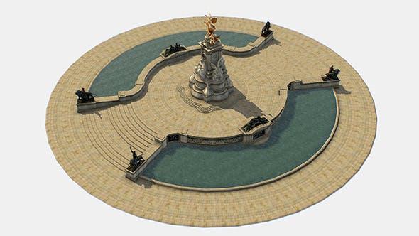 Queen Victoria Memorial Lowpoly 3D model - 3DOcean Item for Sale