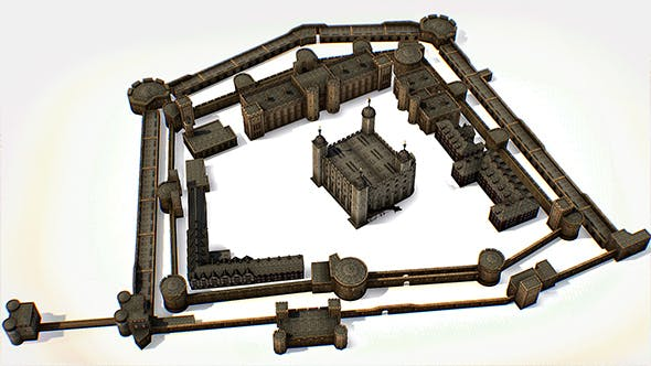 Fortress of the Tower of London historic castle - 3DOcean Item for Sale