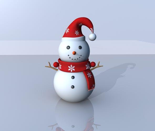 Snowman 3D Model - 3DOcean Item for Sale