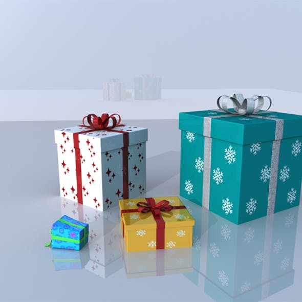 Christmas Gifts 3D Models