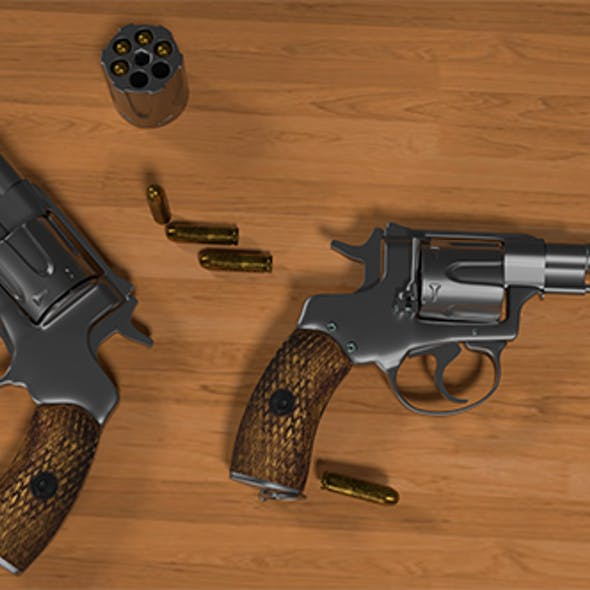 Nagan - Revolver M1835 3D