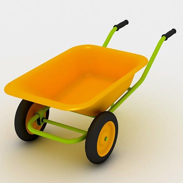 Wheelbarrow for Building, Repair Works or Auxiliary Farm - 3DOcean Item for Sale
