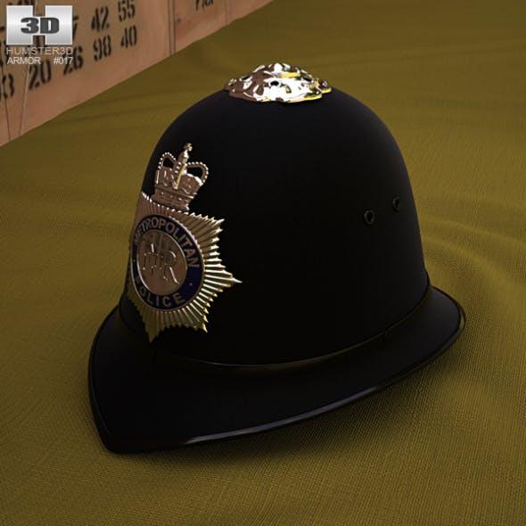 London Metropolitan Police Custodian Helmet - 3DOcean Item for Sale