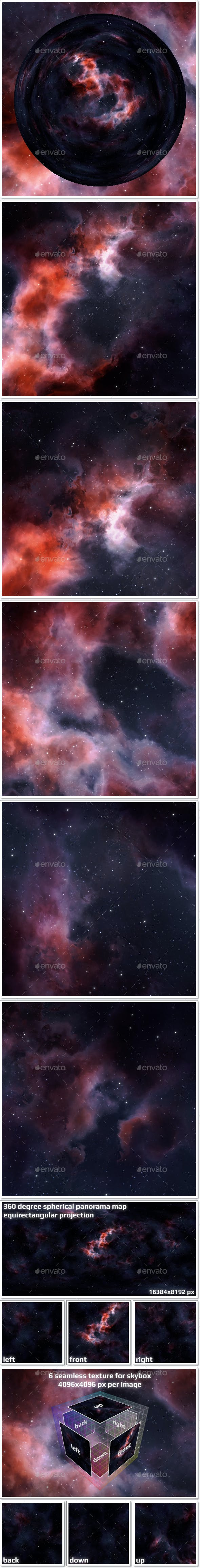 Nebula Space Environment HDRI Map 023 - 3DOcean Item for Sale