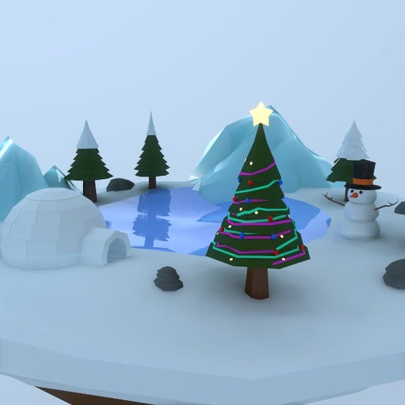 Christmas Igloo - 3DOcean Item for Sale