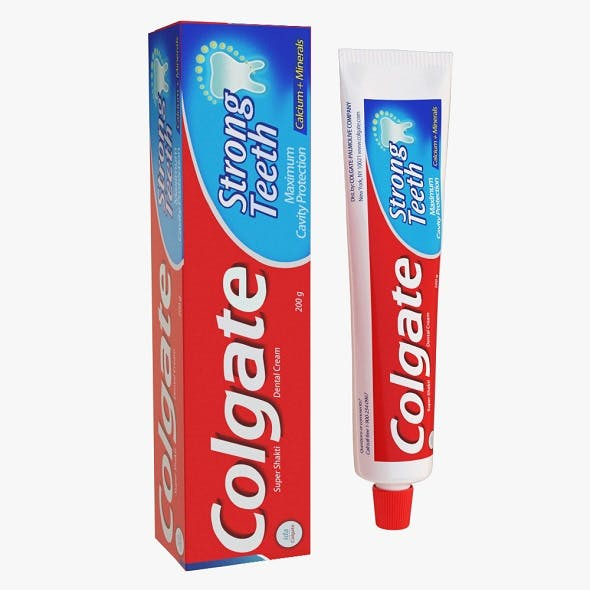 Colgate Toothpaste Package - 3DOcean Item for Sale