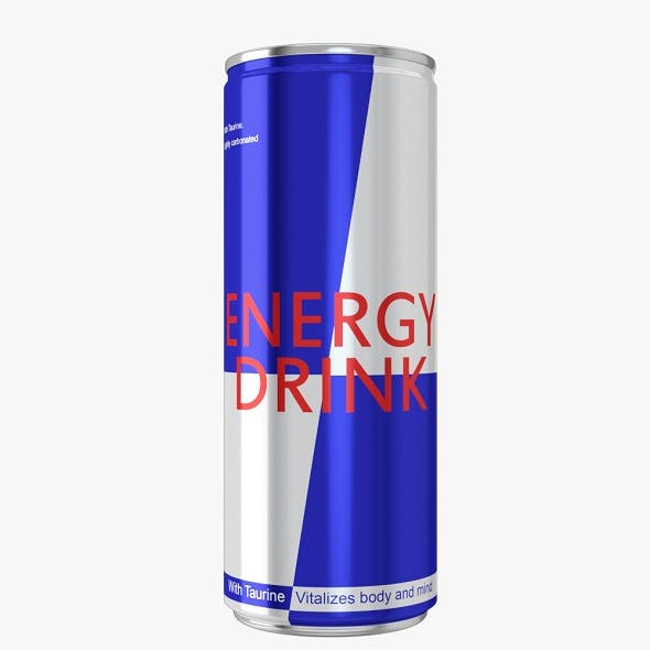 Energy Drink Aluminium Can - 3DOcean Item for Sale