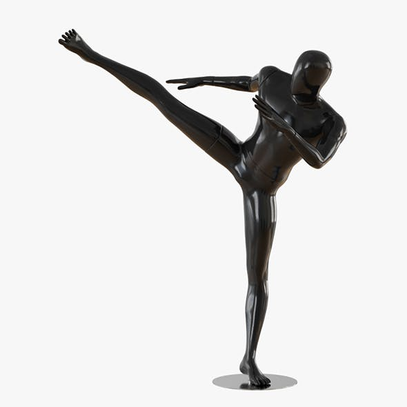 Abstract male mannequin fighter karate 16 - 3DOcean Item for Sale