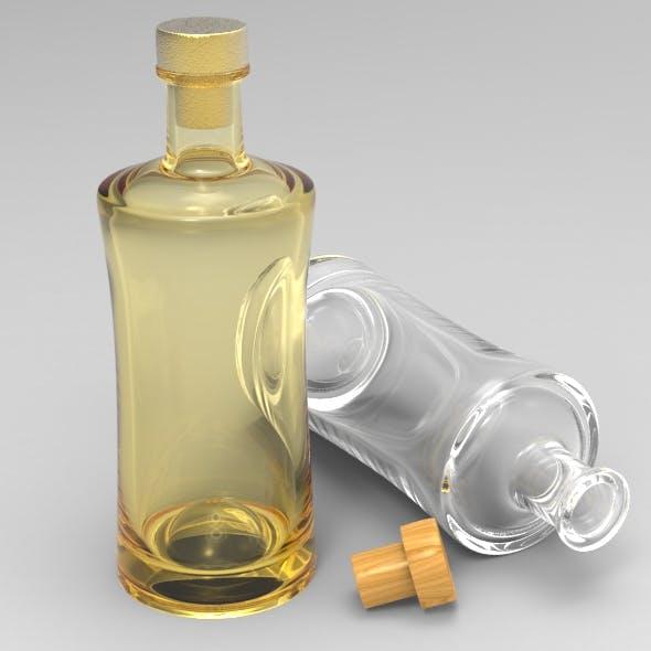Modern Gin Bottle - 3DOcean Item for Sale