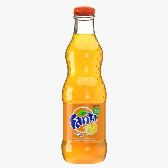 Fanta Drink Glass Bottle