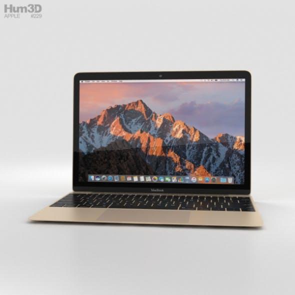 Apple MacBook (2017) Gold - 3DOcean Item for Sale