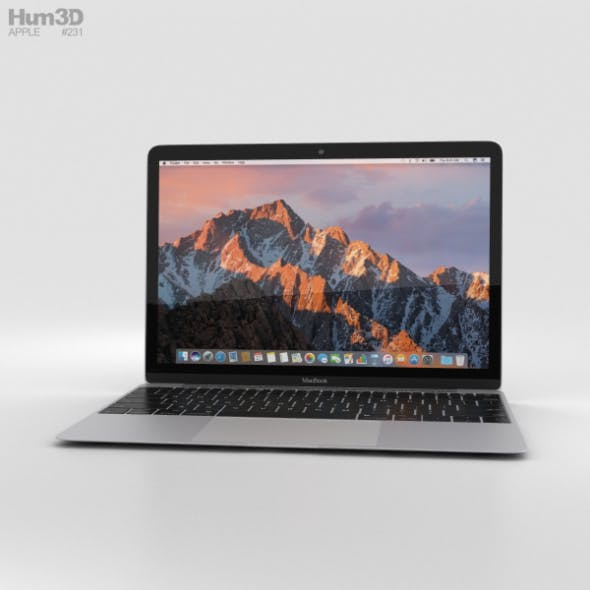 Apple MacBook (2017) Silver - 3DOcean Item for Sale