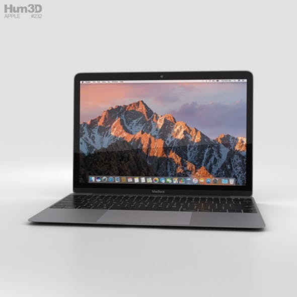 Apple MacBook (2017) Space Gray - 3DOcean Item for Sale