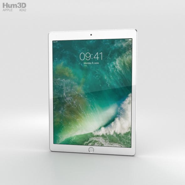 Apple iPad Pro 12.9-inch (2017) Cellular Silver - 3DOcean Item for Sale