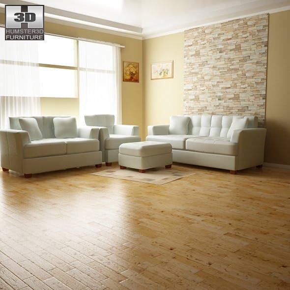 Ashley Zia - Spa Living Room Set - 3DOcean Item for Sale