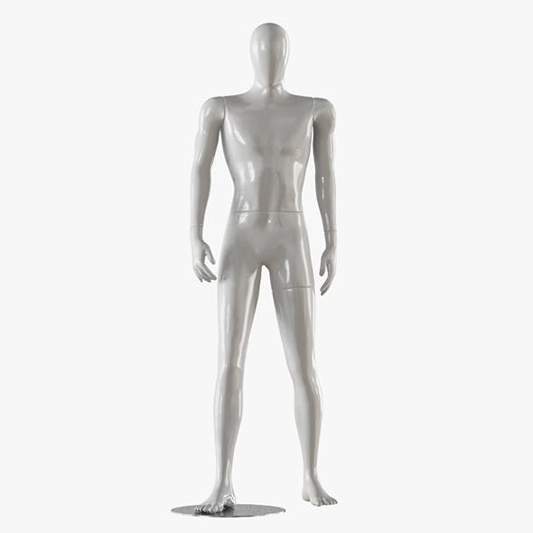 Faceless male white mannequin 17