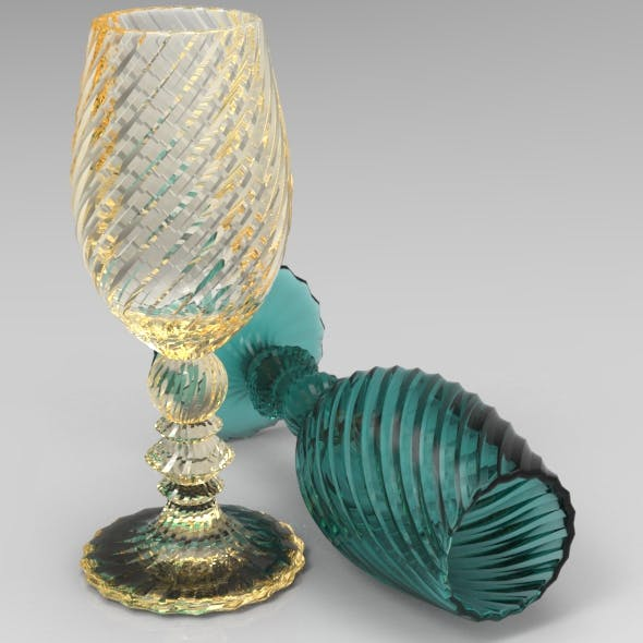 Twenty Star Glass Flute Twisted - 3DOcean Item for Sale